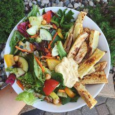 goodhealthgoodvibes: Dinner is sweet potato fries with hummus...