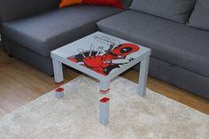 IKEA Table Hacked Deadpool Style