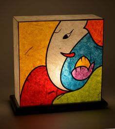Multicoloured Handcrafted Lamp=Shady Ideas $ 56