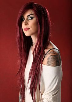 Kat Von D, love her hair here