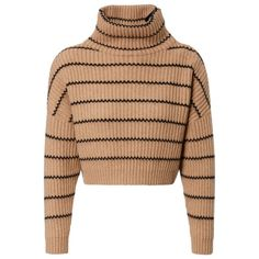 Brunello Cucinelli Damen Cropped Cashmere-Pullover Camel/Schwarz - bei... (146,700 DOP) ❤ liked on Polyvore featuring tops, sweaters, pullover sweater, beige sweater, cashmere pullover, brunello cucinelli sweater and beige pullover sweater