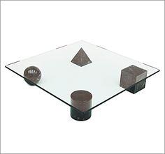 Metafora table designed by Lella and Massimo Vignelli for Casigliani, Italy, 1979 - http://www.fearsandkahn.co.uk/metaforatable.htm