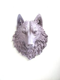 Faux Taxidermy Large Wolf Head Wall Mount Wall by mahzerandvee, $92.00