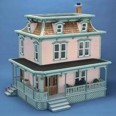 This wooden dollhouse kit features seven different rooms spanning three full floors. Detailing the unfinished wood of this kit will provide you with hours of enjoyment, and the completed result will make for a wonderful display item.