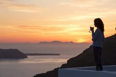 """A moment for yourself... Just you, the orange sunset of #Santorini and the treatment of the """"Alta Vista Suites""""... Enjoy it, you 've earned it!"""