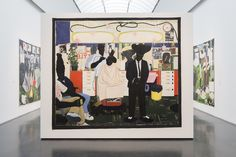 Installation view of 'Kerry James Marshall: Mastry' at the Museum of Contemporary Art Chicago (photo by Nathan Keay, © MCA Chicago) Museum Of Contemporary Art, Contemporary Paintings, Modern Art, Murals Street Art, Artist Gallery, Abstract Sculpture, Artist Art, Beautiful Artwork, Urban Art