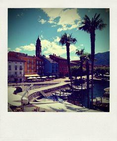 Ascona. Blick auf die Piazza. Ich mag diese Aufnahme sehr.