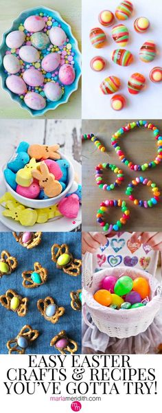 Easy Easter Crafts & Recipes You've Gotta Try! MarlaMeridith.com