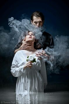 Although the creator and models are unknown to me, I love their portrayal of Hades and Persephone. I also like how the medium for this art is photography, which was rarely found when searching for digital displays. To me, the photography makes the story much more realistic and applicable to today's society.