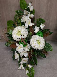 Just work easy _ Grave Flowers, Cemetery Flowers, Church Flowers, Funeral Flowers, Black Flowers, Fall Flowers, Beautiful Flower Arrangements, Beautiful Flowers, Funeral Arrangements