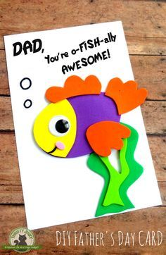 This DIY Father's Day Card Craft is fun and easy to make using colorful foam craft sheets and our printable template.
