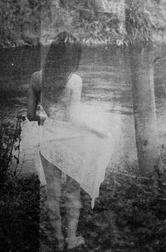 by Colette Saint Yves Creepy Woods, Hidden Art, Veni Vidi Vici, Saint Yves, Pictures Of People, Photography Women, Double Exposure, Faeries, Black And White Photography