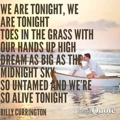 Billy currington we are tonight song quote photo photography beach scene love lovesong lyrics