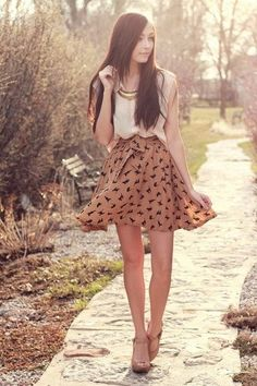 Air skirt shoes perfection via Chictopia fashion-my-styleh