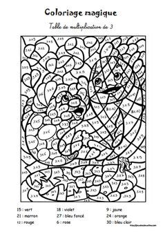 Coloriage cod fractions r duie je passe partout lam for Apprendre les tables de multiplication cm1