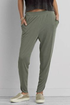 AEO Lounge Pant  by AEO | Style meets comfort. Finished with a curvy hem for the perfect detail. Shop the AEO Lounge Pant  and check out more at AE.com.
