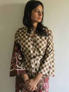 Knee length Robe Style Made From JJ3 Fabric Pattern