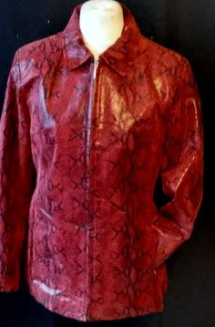 tumbrl#instagram#avito#ebay#yandex#facebook #whatsapp#google#fashion#icq#skype#dailymail#avito.ru#nytimes #i_love_ny     julia s. roma bordeaux leather zipper snake print coat size 40 #juliasroma #BasicJacket
