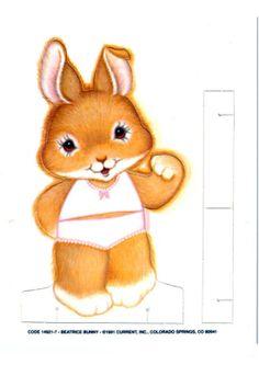 (⑅ ॣ•͈ᴗ•͈ ॣ)♡                                                             ✄Paper Doll Beatrice Bunny