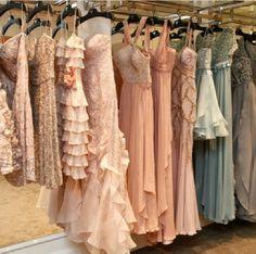 Racks full of dresses and more dresses.