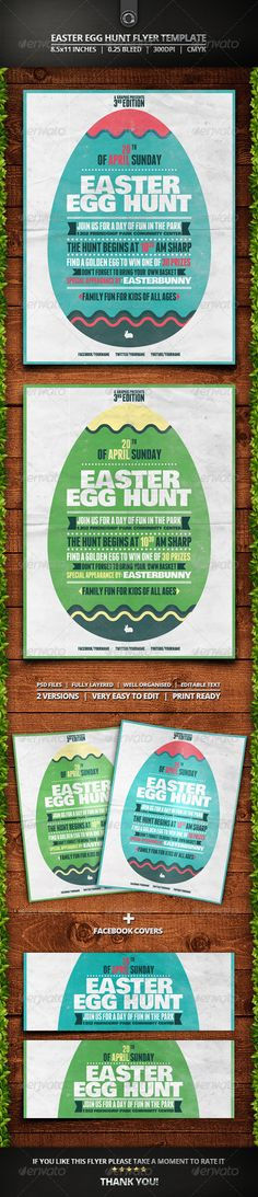 Easter Egg Hunt Flyer Template — Photoshop PSD #easter flyer #typography • Available here → https://graphicriver.net/item/easter-egg-hunt-flyer-template/7365531?ref=pxcr