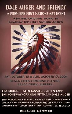 dale auger artist | Dale Auger and Friends Native American Artwork, Pow Wow, Indigenous Art, Canadian Artists, Native Art, Roots, Advertising, Posters, Friends