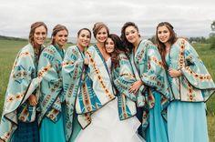 Bridesmaids. Pendleton blankets. Wedding inspiration. Kacie Q Photography