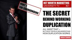 """Whats the secret behind the magic word """"DUPLICATION""""? Everybody in Direct Selling & network Marketing talk about it. Marketing News, Direct Selling, Magic Words, Net Worth, Channel, University, Tv, Television Set"""
