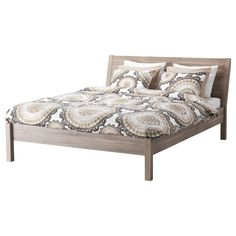 LYCKOAX Duvet cover and NYVOLL bed by IKEA