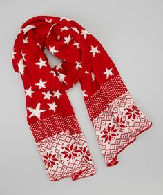 This Red & White Stars Scarf by modern centers trade is perfect! #zulilyfinds