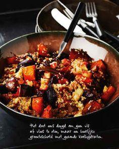 Het favoriete herfstrecept van Pascale Naessens - Quinoa met gegrilde groenten