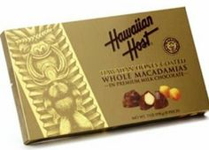 Hawaiian Host Chocolate Macadamia Whole Nuts Honey Coated 7 oz. Box by Buns of Maui. $22.49. Sealed in boxes to retain freshness!. Hawaiian Food products will add a special touch to your next party!!. 7 oz. box. The new Hawaiian Honey Coated Whole Macadamias are indeed a worthy addition to the Hawaiian Host brand. The best whole Macadamias are hand selected and fresh roasted, hand dipped in pure Hawaiian honey and then coated with Hawaiian Host's genuine, classic, original ...