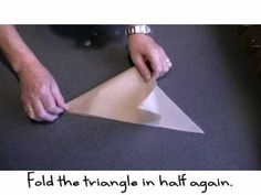 Learn How to Fold a Parchment Bag for Piping - YouTube