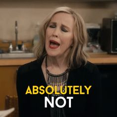 Trending GIF funny comedy nope rose humour never cbc no way canadian schitts creek schittscreek hell no moira catherine ohara queen moira absolutely not no chance Comedy Tv, Funny Comedy, Funny Humour, Hilarious Memes, Humor, Funny Gifs, Catherine O'hara, Schitts Creek, Reaction Pictures