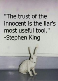 Of course he says to trust & quit thinking.  Of course....its easier for him that way.