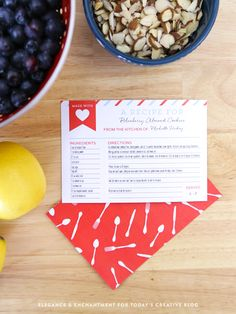 Free Printable Recipe Cards make great gifts, attach to a potluck dish, or a meal being delivered. Find more free printables on TodaysCreativeBlog.net
