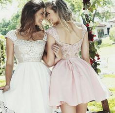 Sherrihill- light pink and white bead work dresses