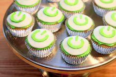 Computer power button cupcakes