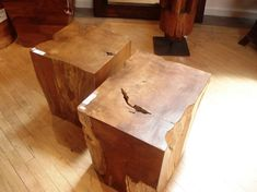 a square stump Stump Table, Wooden Trunks, Wood Design, Garden Inspiration, Natural Wood, Stool, Woodworking, Furniture, Vintage