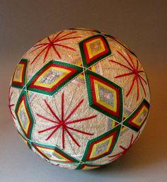 """Japanese Temari Ball made of kimono Silk fabrics """"Kyoto nisijin """" Handmade"""