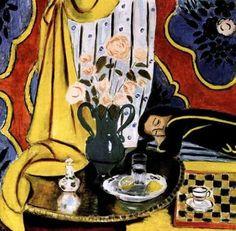 Henri Matisse, Femme à Côté d'un Échiquier, 1828 on ArtStack #henri-matisse #art