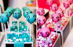 Boy Gender Reveal Party // Hostess with the Mostess® Baby Shower Gender Reveal, Baby Gender, Baby Shower Themes, Shower Ideas, Baby Shower Cake Pops, Baby Boy Shower, Baby Showers, Cake Pop Displays, Gender Party
