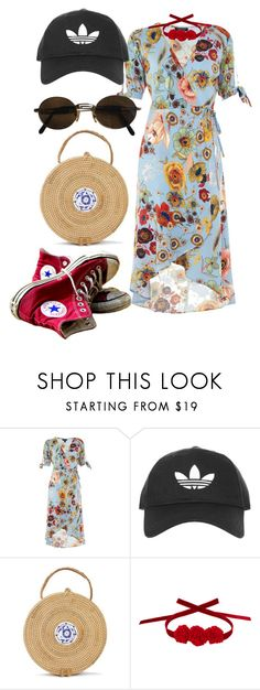 """""""Untitled #1036"""" by veronice-lopez ❤ liked on Polyvore featuring Topshop, Converse, Vjera Vilicnik and Moschino"""