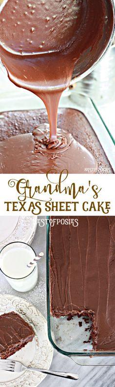 Grandma's Classic Texas Sheet Cake