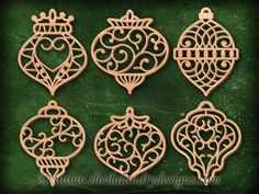 - Nearing the Finish on This One PLUS a new ornament pattern from Keith! Paper Ornaments, Santa Ornaments, Heart Ornament, Laser Cutter Projects, Laser Cutter Ideas, Scroll Pattern, Scroll Saw Patterns, Stencil Patterns, Painting Patterns