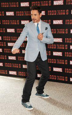RDJ at Iron Man 3 press conference