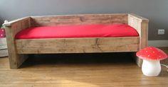 bed steigerhout voor Liz! peuterbed