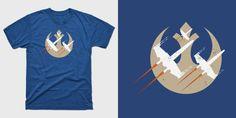 Resist TFA X-Wings - Minimal Star Wars T-Shirts