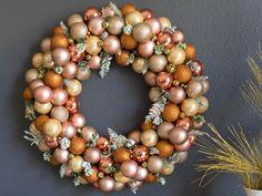 Rose Gold DIY Ornament Wreath   Fun365