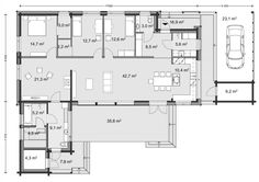 House Plans, Sweet Home, Floor Plans, Exterior, Cabin, Flooring, How To Plan, Architecture, Building